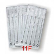11 Flat Sterile Tattoo Needles